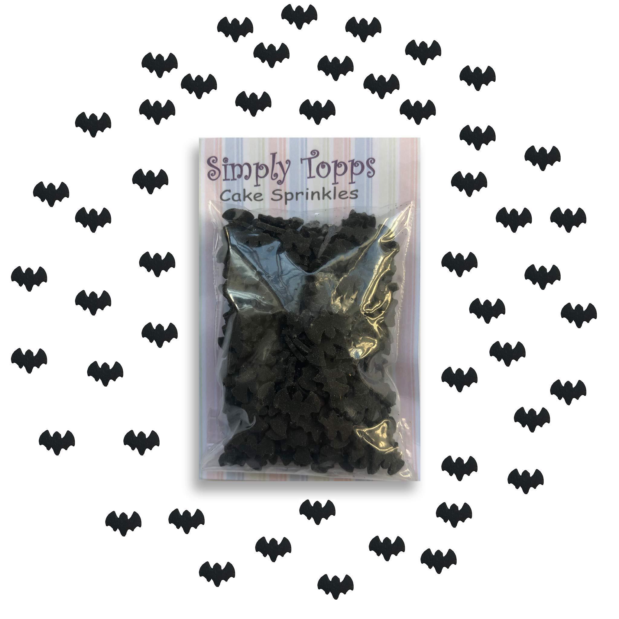 Black Bat Halloween Sugar Cake Sprinkles 25g for Cake Cupcake Decorations