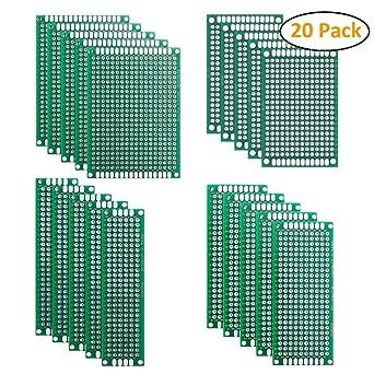 Amazon.com: 20 piezas PCB Board, ifergoo Protoboard ...