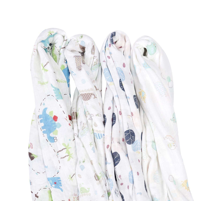 80x80 cm paquete de 3 doudou pa/ños de muselina suaves para beb/é,ideal como pa/ñales de tela Muselinas para beb/és de emma /& noah con OEKO-TEX pa/ños de mulet/ón mantas de lactancia 100/% algod/ón