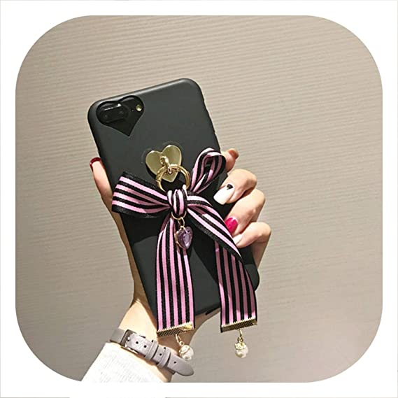 best service 62a25 784c0 Amazon.com: Cute Japan Korean 3D Love Bow tie Soft Phone case for ...