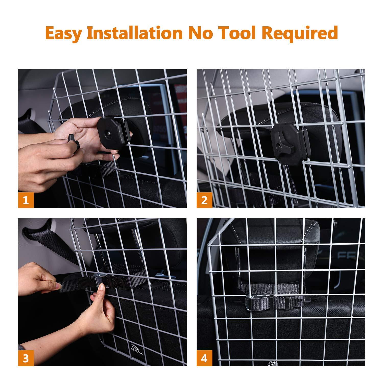 Sailnovo Dog Barrier for Car SUV Vehicles, Adjustable Pet Barrier Wire Mesh Dog Car Barrier for Cargo Area - Universal Fit by Sailnovo (Image #8)