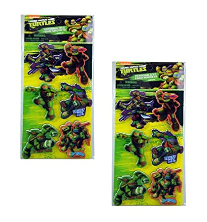 Amazon.com: Teenage Mutant Ninja Turtles 3-inch Foam Magnets ...