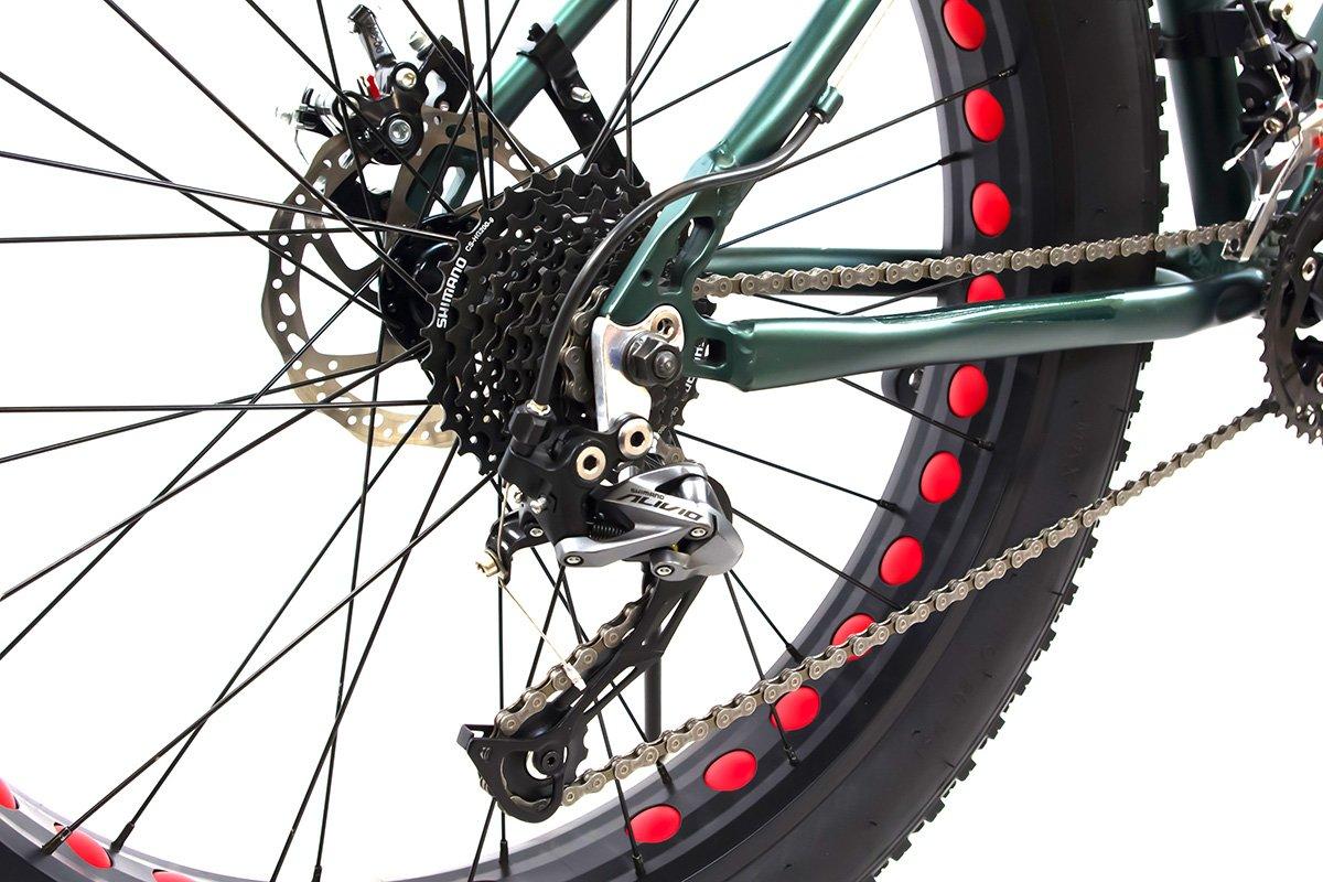 Alton Mammoth 20 Fat Tire Bike 26 Wheel 27 Bmw Speed Alloy Frame Army Green Sports Outdoors