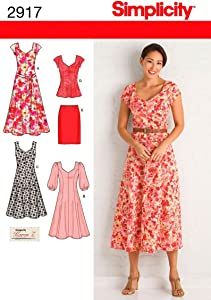 Simplicity 2917 Dress and Tunic Sewing Pattern for Women by Karen Z ,Sizes 20W-28W