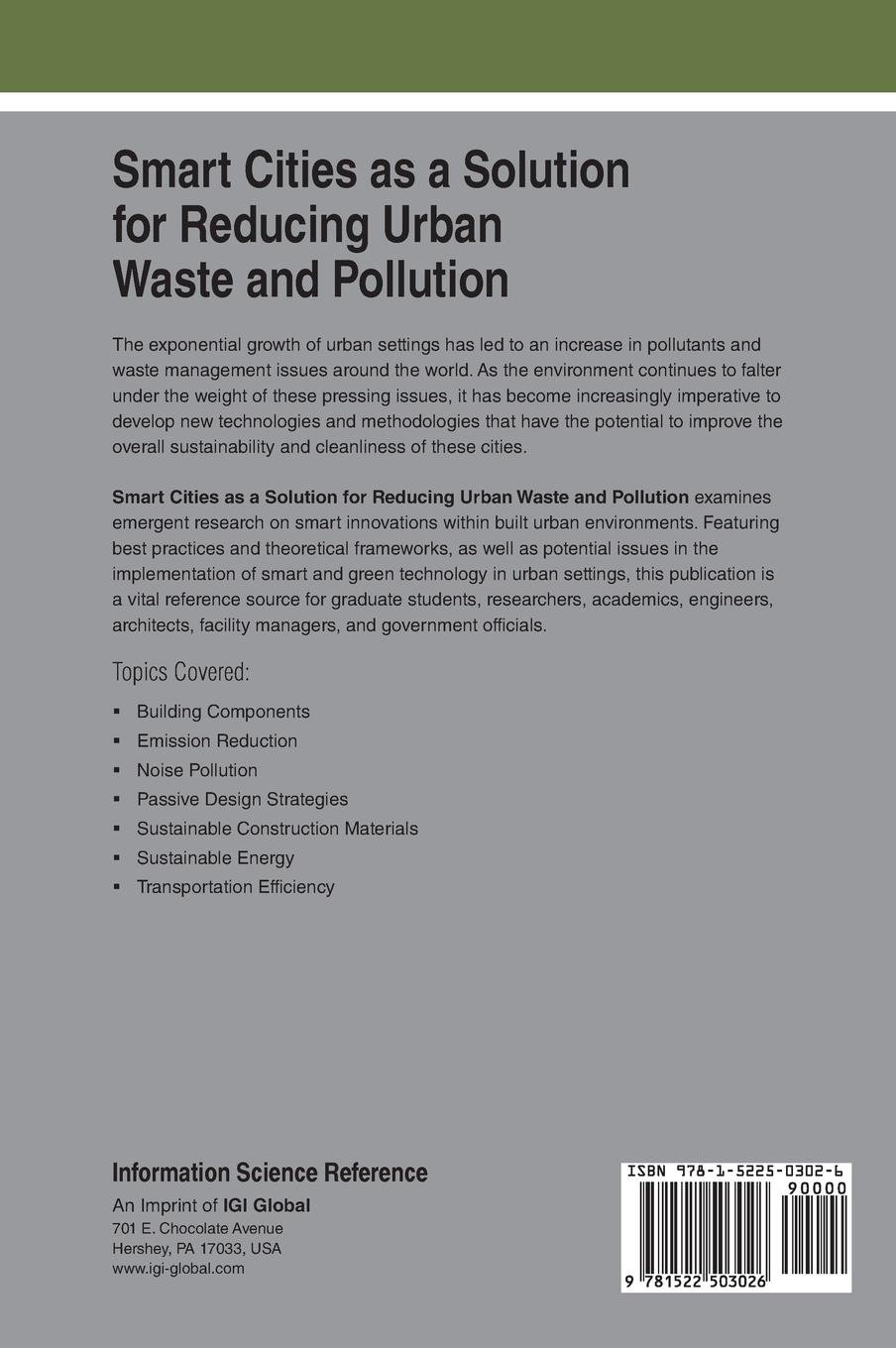 Smart Cities as a Solution for Reducing Urban Waste and
