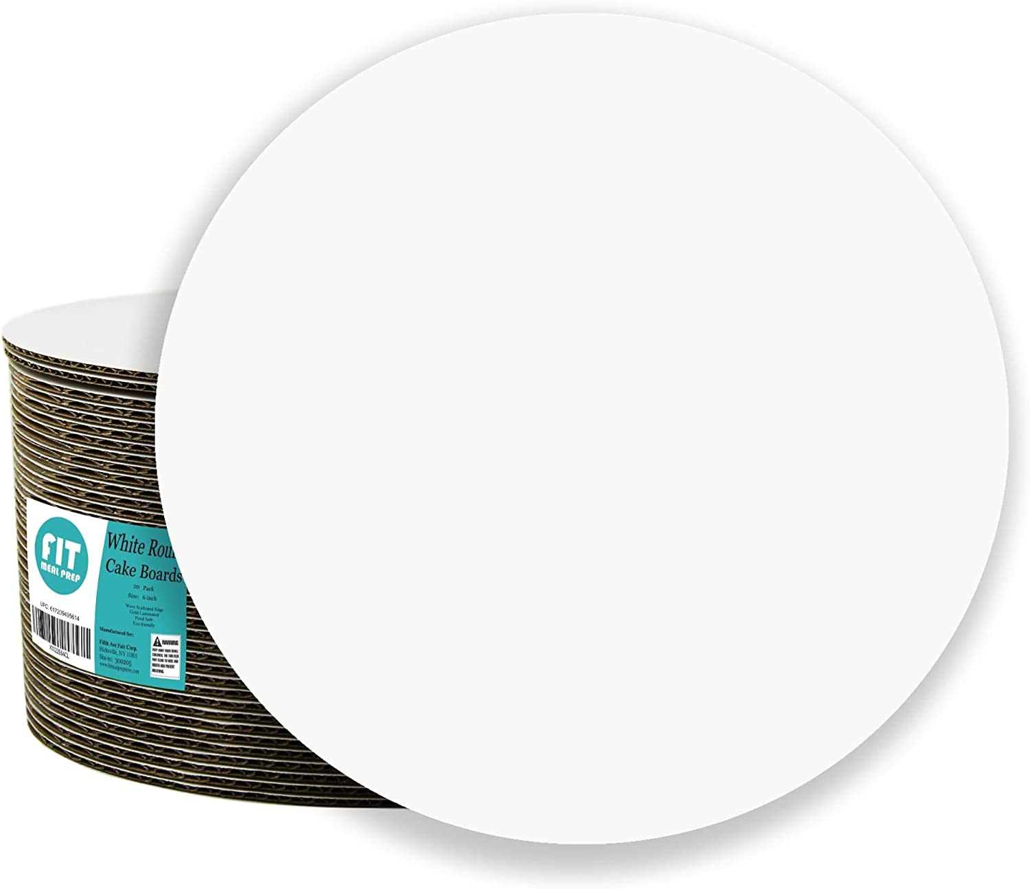 6 of Each Size Cake Board Rounds 8 and 10-Inch Grease Proof Set of 18 Perfect for Cake Decorating 6 Circle Cardboard Base