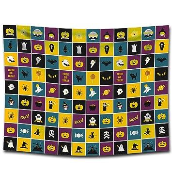 FUWUX Home Halloween Impreso tapicería Lonas Mantas Toallas de Playa Pinturas para el hogar manteles Decorativos (Color : G0133 (2), Size : 100 * 75CM): ...