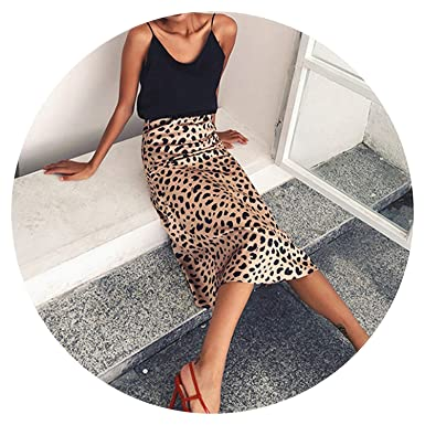 31ddea15a2 Leopard Print Skirt Women A-Line high Waist Skirt Wild Things Sexy Long  Skirts Fall