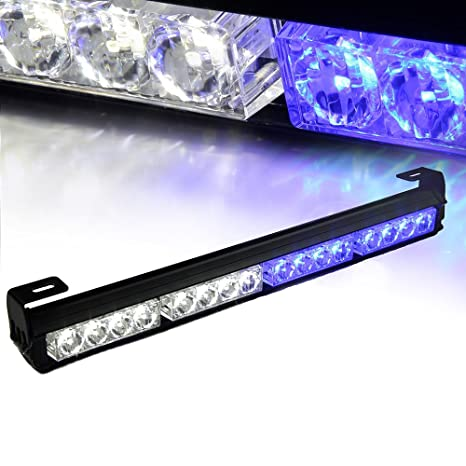 Amazon xprite 18 16 led emergency warning traffic advisor xprite 18quot 16 led emergency warning traffic advisor vehicle led strobe light bar white aloadofball Image collections