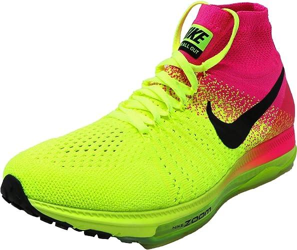 Nike W Zoom all out Flyknit OC, Scarpe da Corsa Donna, Nero