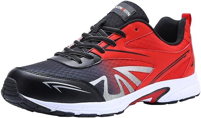 Scarpe Antinfortunistica Uomo Leggere, LM1805, Sneaker da Lavoro Antiscivolo Traspirante Punta in Acciaio Scarpe