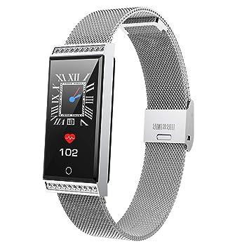 ZUZU Fitness Tracker Reloj Inteligente Slimy IP68 Pantalla a ...
