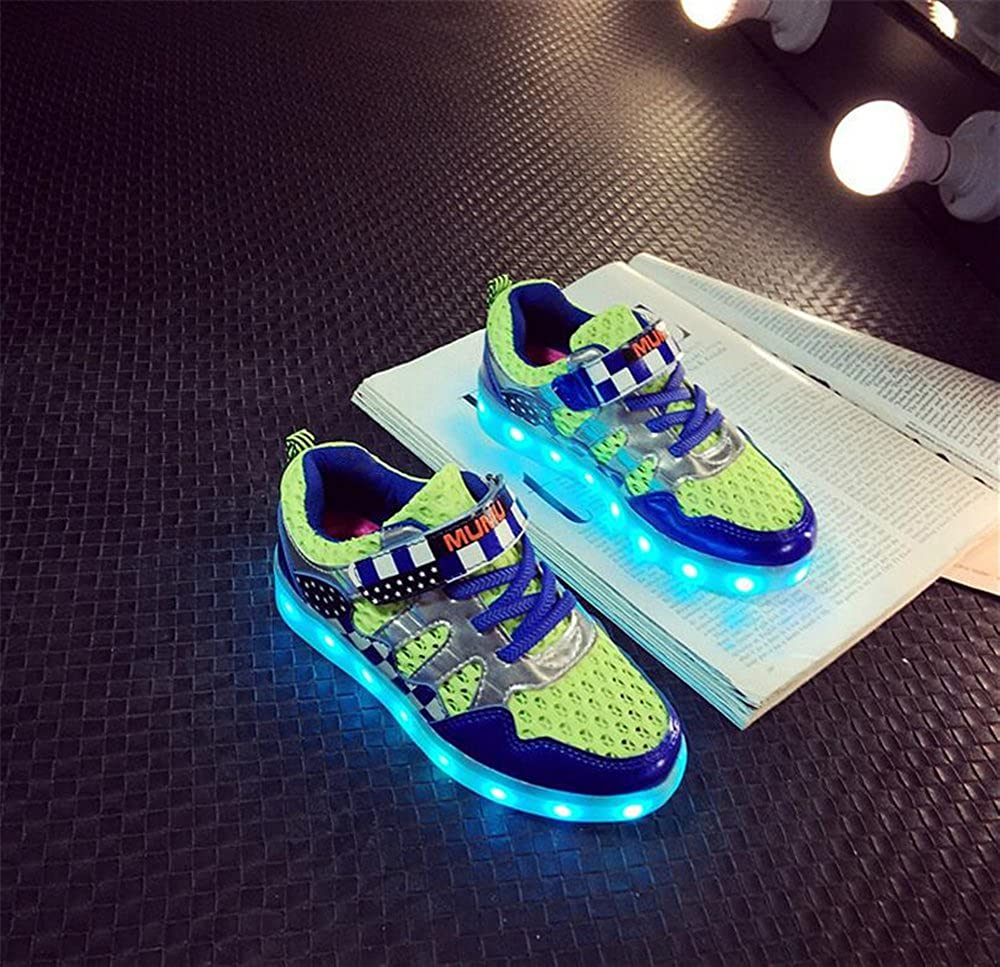 A2kmsmss5a LED Light Up Shoes Rechargeable USB Flashing Fashion Sneakers for Kids Boys Girls