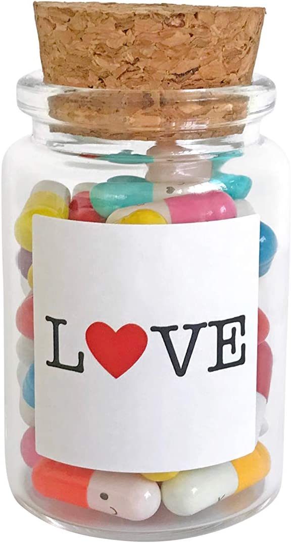 Thank You Gift Anniversary Wasatch Bottles Message in a Bottle Capsule Letters Glass Favors Multi Color 50 Capsules