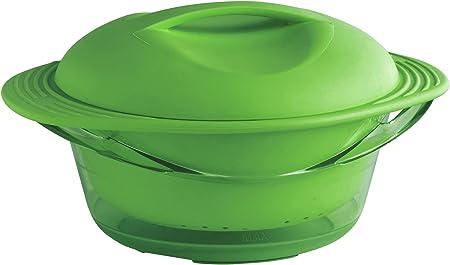 mastrad F70018 - Olla para cocinar al Vapor (Silicona), Color Verde: Amazon.es: Hogar
