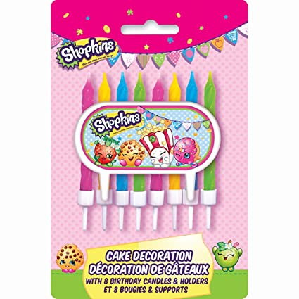 Amazon Shopkins Cake Topper Birthday Candle Set Toys Games