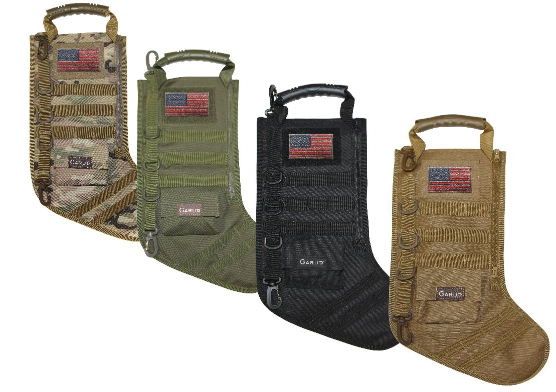 Tactical Christmas Stocking with Molle Gear (Black)