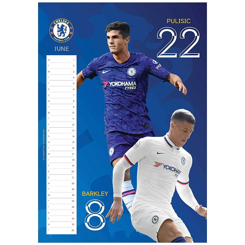 Official Chelsea FC 2020 Football Calendar /& Socks Gift Set