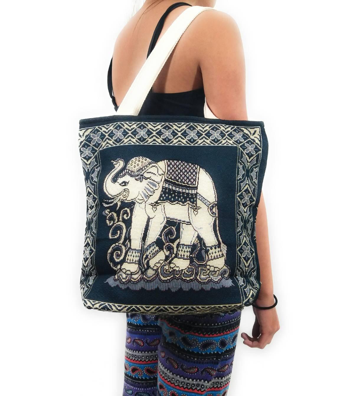 Kraft4Life Hobo Boho Elephant Sling tote Bag Shoulder Bag Bohemian Purse(EL001)