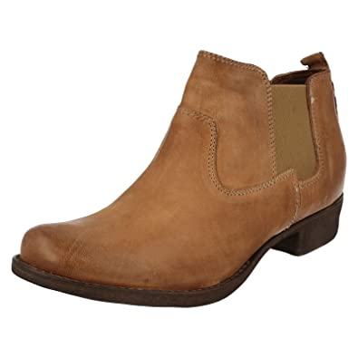 2ccdd23cc Clarks Womens Casual Clarks Colindale Ritz Leather Boots In Light Tan  Standard Fit Size 4