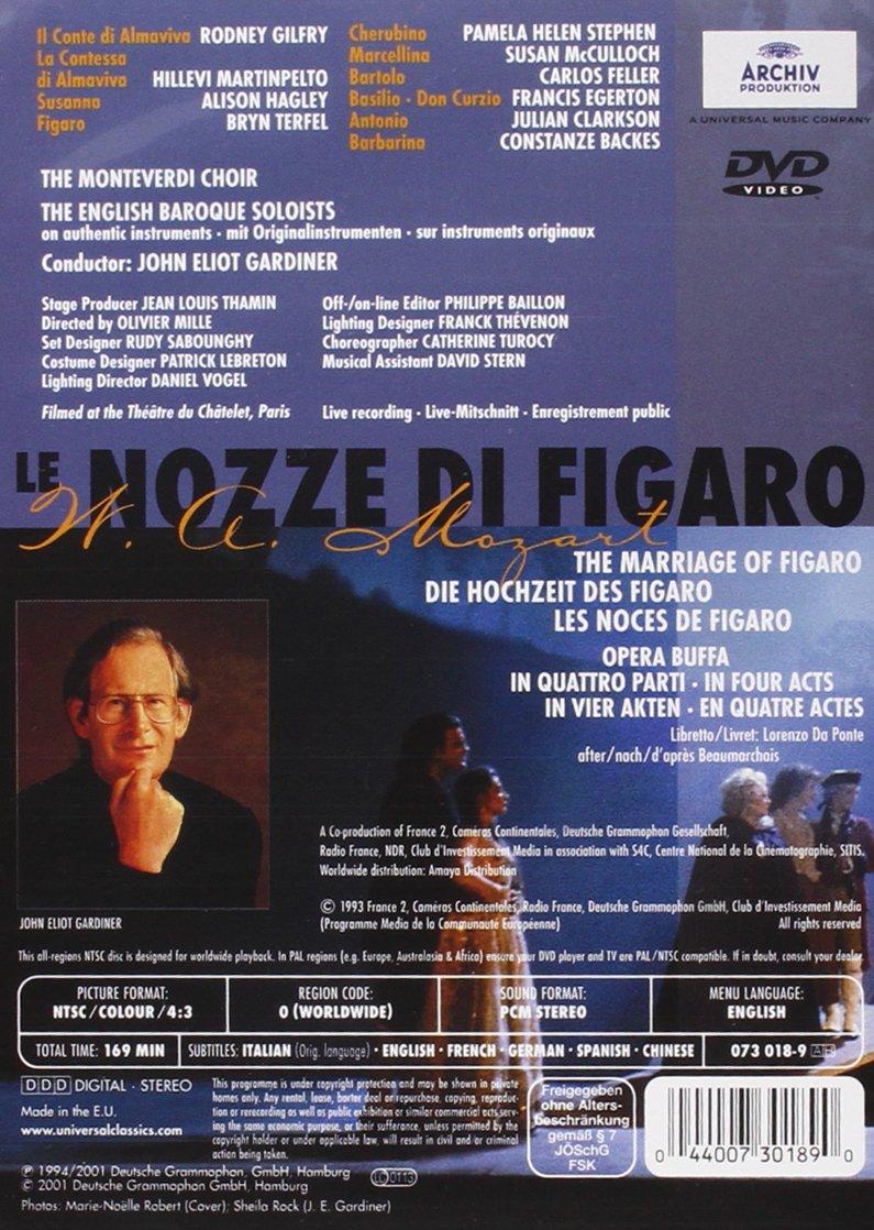 Mozart - Le Nozze di Figaro (The Marriage of Figaro) / Jean-Louis Thamin · John Eliot Gardiner · Bryn Terfel · Rodney Gilfry · Théâtre du Chatelet by Deutsche Grammophon