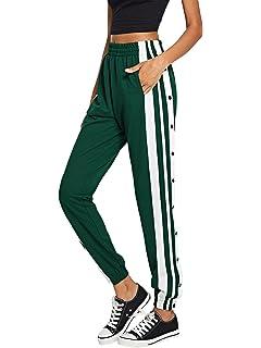 d370c5be0542 SOLY HUX Damen Hosen Sweatshose mit Taschen, Knöpfe Streifen Sweatpants  Elastischer Bund Jogginghose