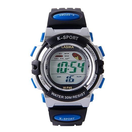 Hiwatch Relojes de Pulsera para los Niños/Niñas Reloj de Pulsera Digital Infantiles Azul: Amazon.es: Relojes