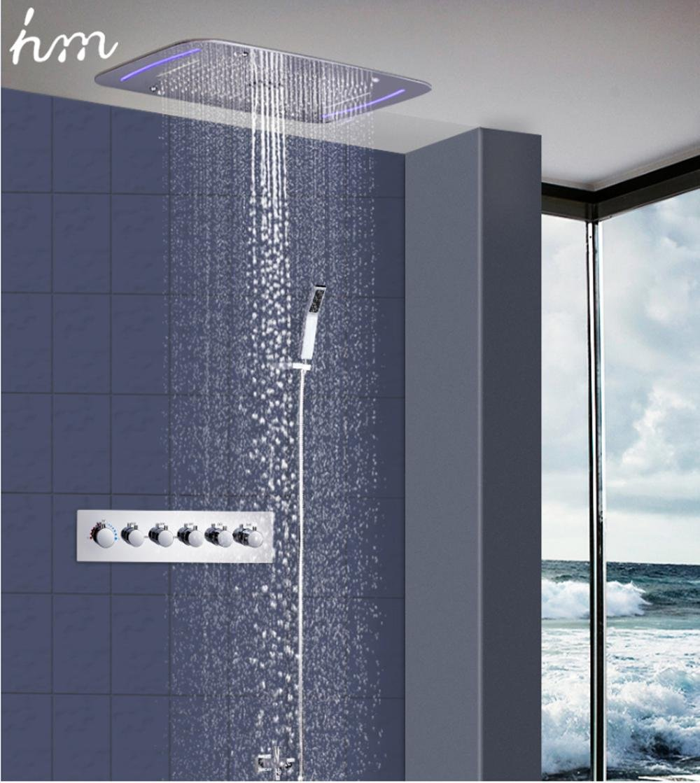 hm 5 Functions Reccessed Rainfall Waterfall Mistfall Ceiling Shower ...