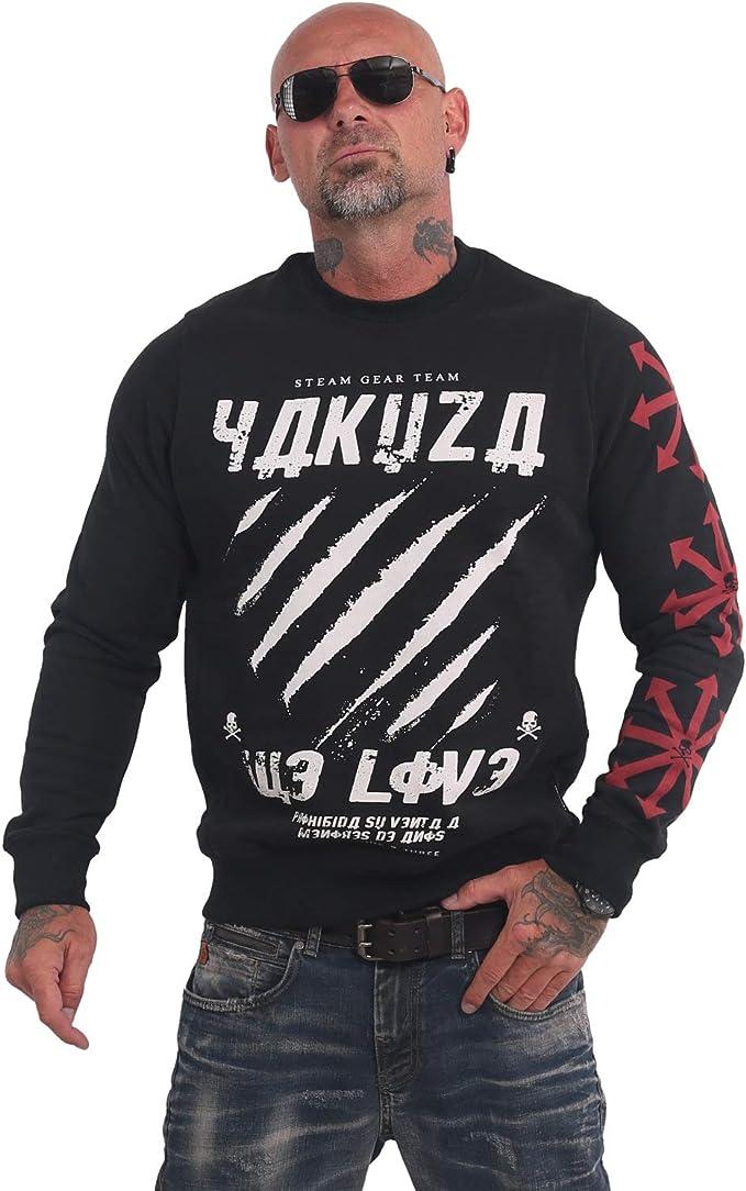 Schwarz Yakuza Herren We Love Kapuzenpullover