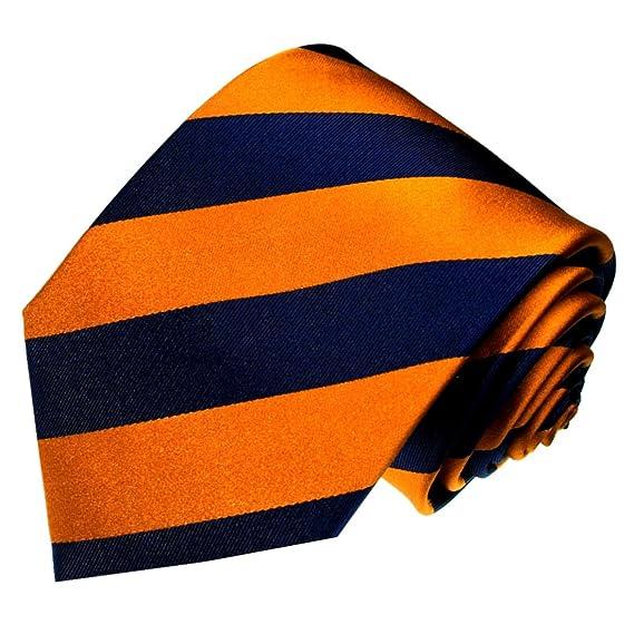 LORENZO CANA - Designer corbata de lujo de 100% seda - Naranja ...
