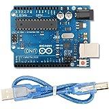 Arduino Mega UNO R3 ATmega328P Development Board with USB Cable, Compatible With Arduino UNO R3 Mega 2560 Nano Robot for Arduino IDE AVR MCU Learner K53