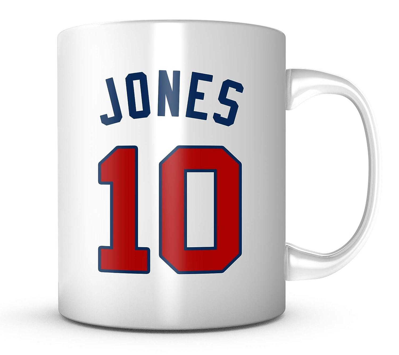big sale ea06b 4da28 Chipper Jones Mug - Atlanta Baseball 11 oz Coffee Cup - Makes A Great Fan  Gift