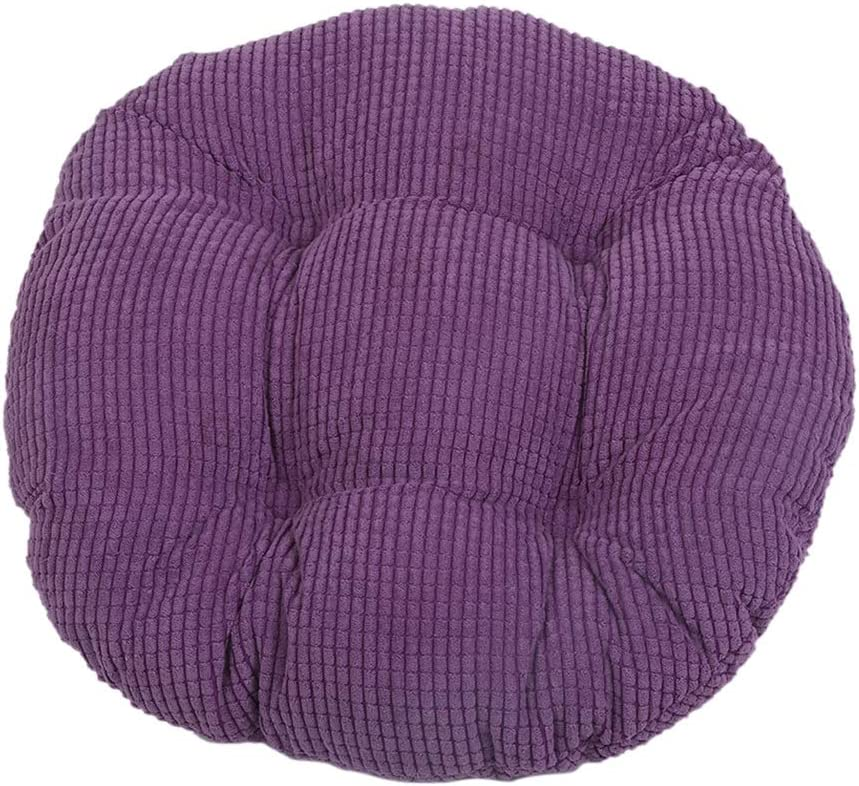 Bverionant Round Cushion Pad for Home Office Garden Chair Polyester Floor Tatami Pillow for Seat Indoor Outdoor Dark blue S,30 30cm