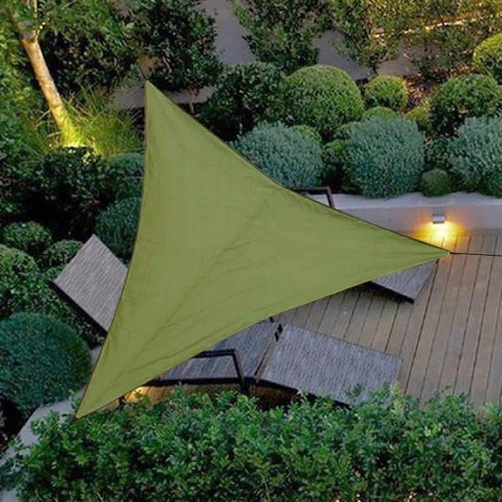 Green Blue Cuadrado, 3,6 Toldo para jard/ín Vela de Sombra Cuadrado o Triangular Impermeable Diferentes Medidas