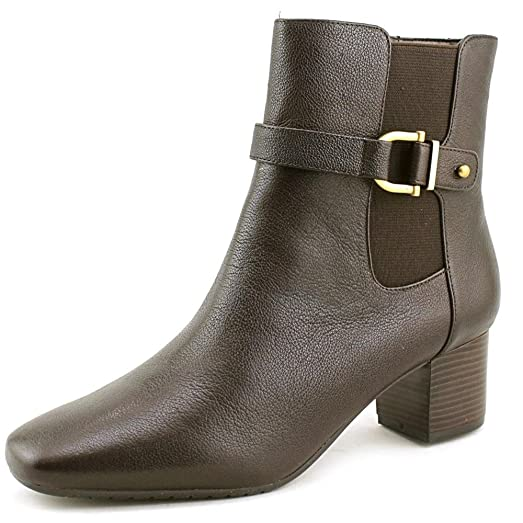 Womens Lorillard Leather Square Toe Ankle Fashion Boots