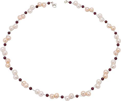 collier perle rouge et blanc