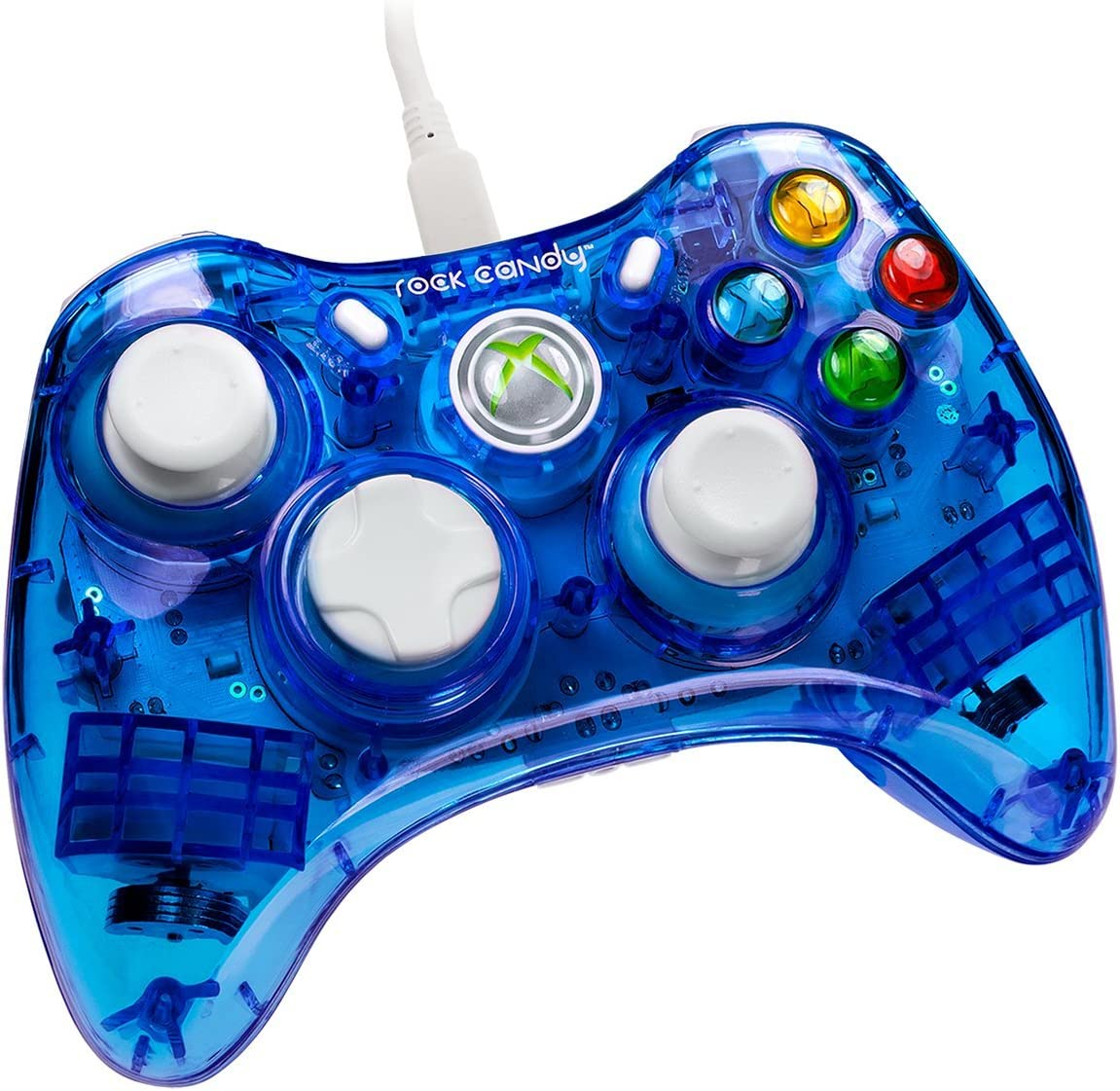Amazon com: PDP Rock Candy Wired Controller for Xbox 360, Blueberry
