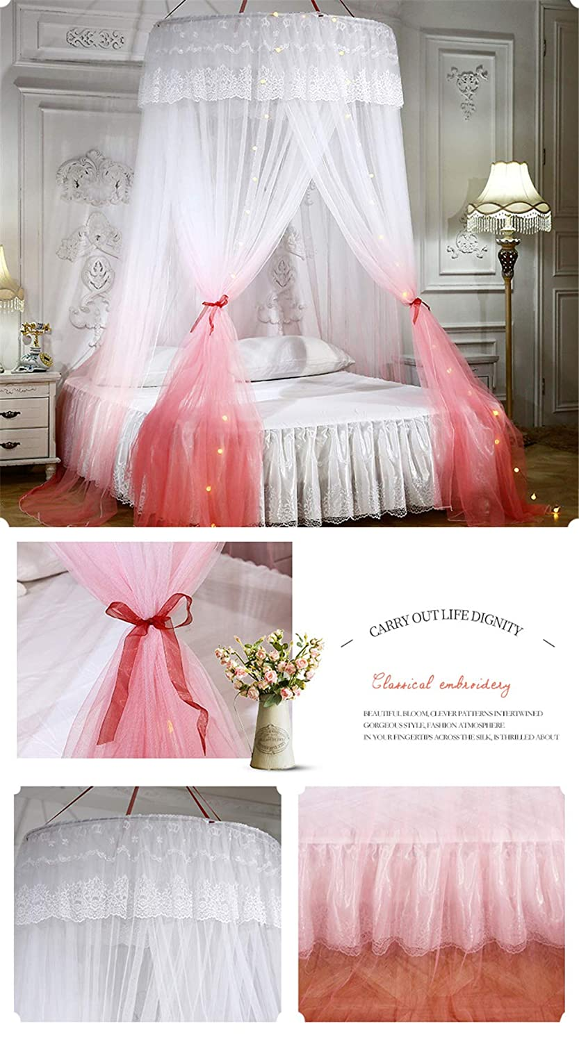 Diagtree Dome Mosquito Net Bed Canopy White, Dome White