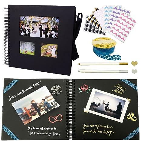 Huston Lowell Album Fotografico Scrapbooking Craft 80 Pagine Di Carta Diy Libro Degli Ospiti Sketchbookanniversario San Valentino Album Di Foto Di