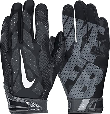 timeless design 6e696 fec39 Men s Nike Vapor Jet 3.0 Football Gloves Black Anthracite White Size Medium