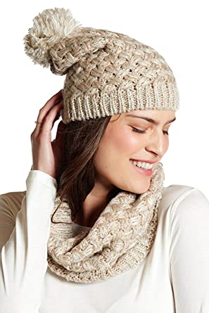 3f997fb97b8 Betsey Johnson Scarf and Beanie Set (NEUTRAL) at Amazon Women s Clothing  store