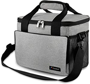 Conthfut Insulated Lunch Bag Reusable Lunch Box with Adjustable Shoulder Strap Security Guard Cooler Tote Box Cooler Bag Lunch Container for Women Men Kids Picnic Work School