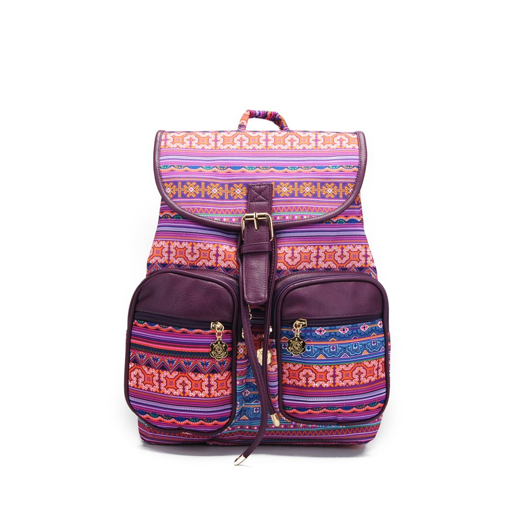 Ms.Camellia Fashion Women Backpack Casual Backpack Girls School Backpack Purple by