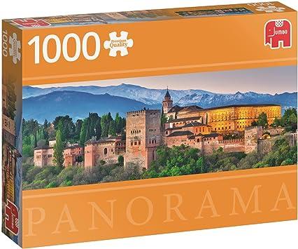 Jumbo pcs Panorama Alhambra, Spain, Puzzle de 1000 Piezas (618574): Amazon.es: Juguetes y juegos