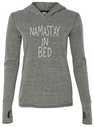 Amazon.com  Yoga Clothing For You Ladies Namast ay in Bed Thin ... 0ccf150d3