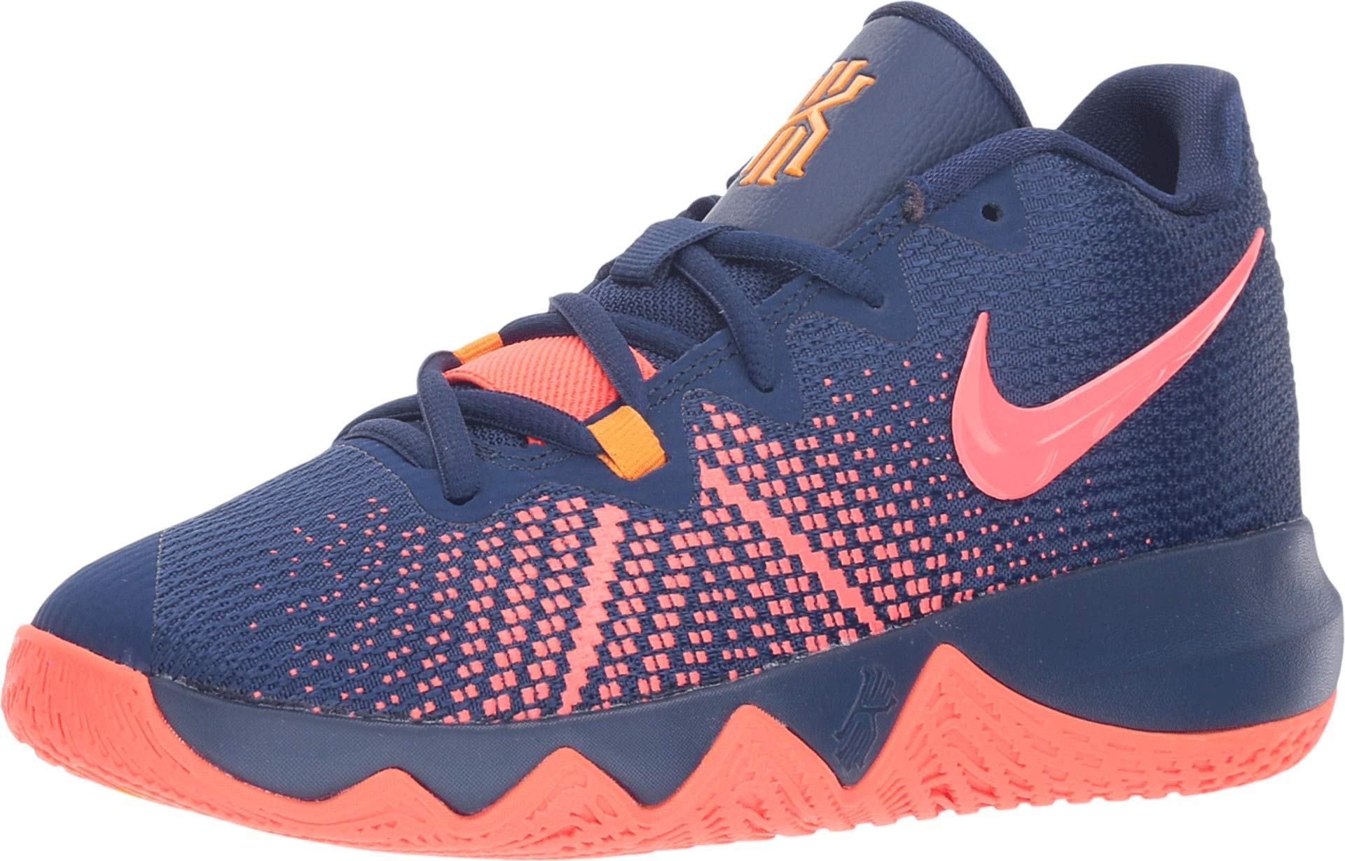 Nike Boy's Kyrie Flytrap Basketball Shoe Blue Void/Flash Crimson/Orange Peel Size 3.5 M US