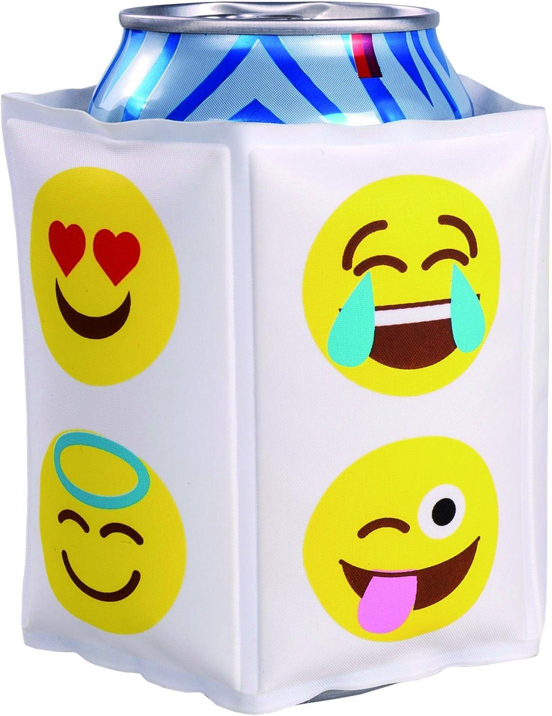 Vin Bouquet FIE 214 - Funda Enfriadora Latas Emoticonos, Cubierta Enfriadora Gel, Velcro Ajustable