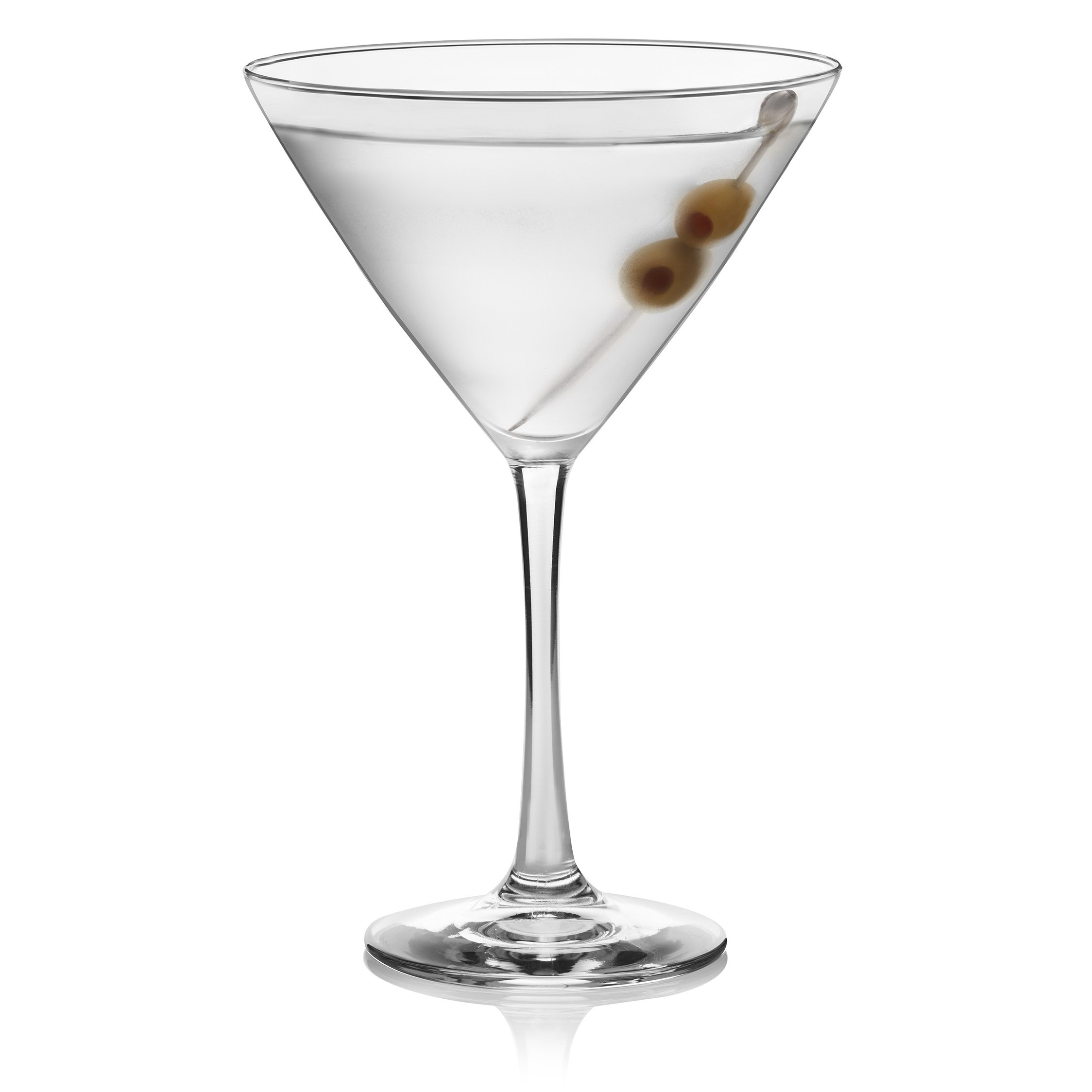 Libbey Vina Martini Glass Set, 6-12 ounce Martini Glasses, 7.38 inch height, Lead-Free