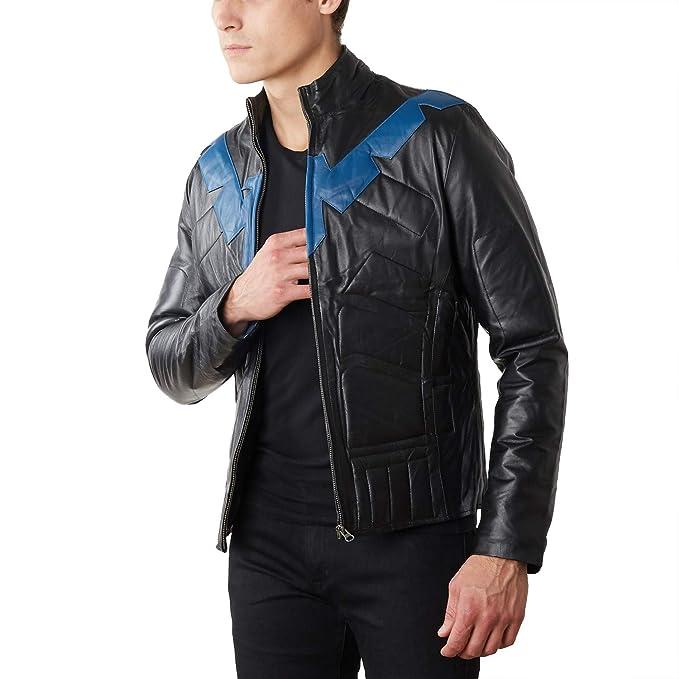 Amazon.com: Luca Designs Nightwing - Chaqueta de piel para ...