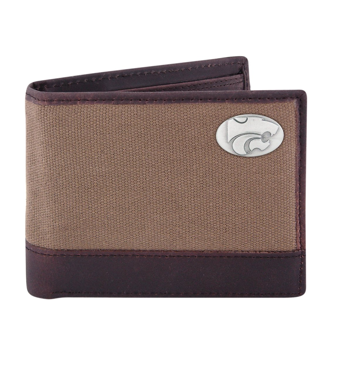 Olive ZEP-PRO NCAA Canvas Leather Concho Passcase Wallet